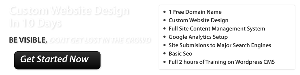 Custom Website Design in 10 Days $999.00