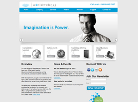 WorldWebNet.net website design by walkway web designs